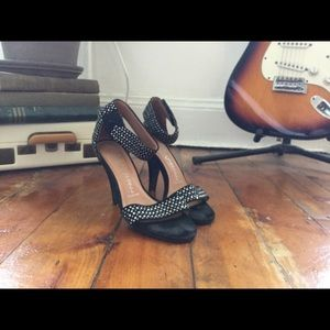 Jeffrey Cambell Ibiza black suede studded heels